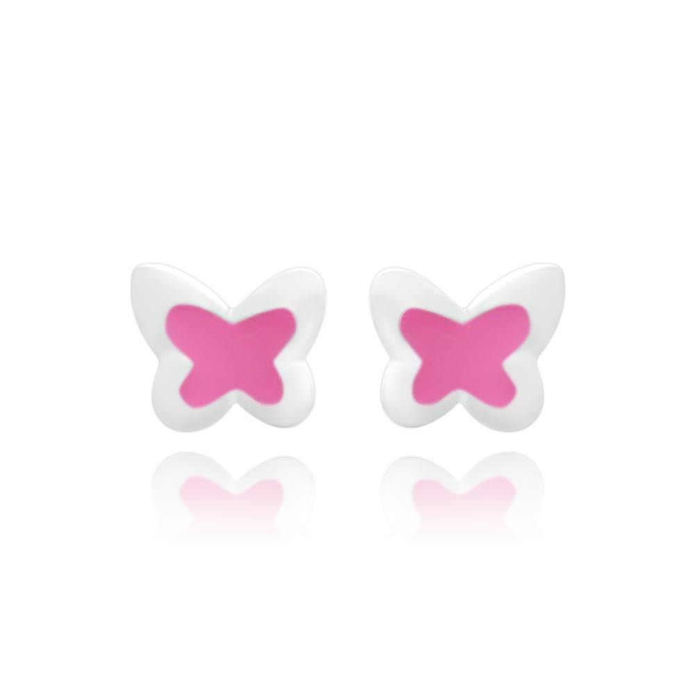 CC Pink Baby Butterfly Stud Earrings