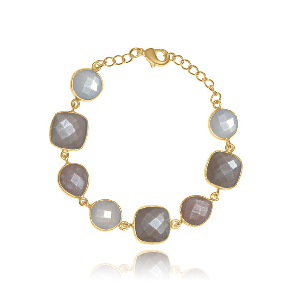 Hidden Treasure Multi Moonstone Bracelet - Euro Sparkles