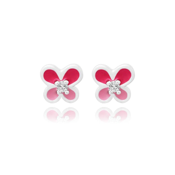 CC Pink Baby Butterfly Amazing earrings - Euro Sparkles