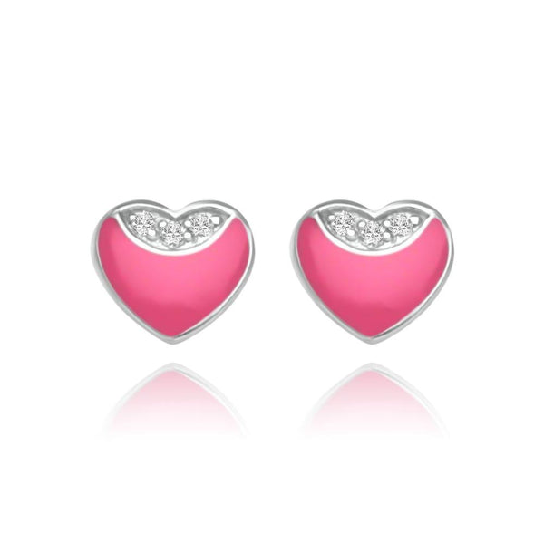CC Baby Pink Little Hearts Stud Earrings - Euro Sparkles