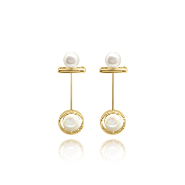 Firenze Pearl MOP Earrings - Euro Sparkles