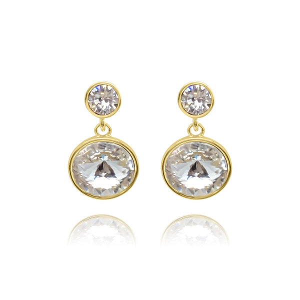 Marbella Round Stud Earrings - Euro Sparkles