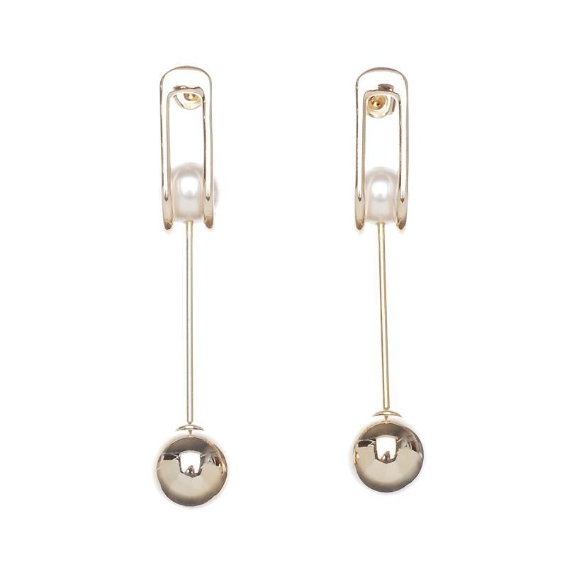 Firenze Pearl Ball Earrings