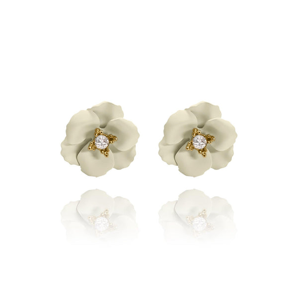 Las Flores Mini Cherry Blossom Earrings - Euro Sparkles