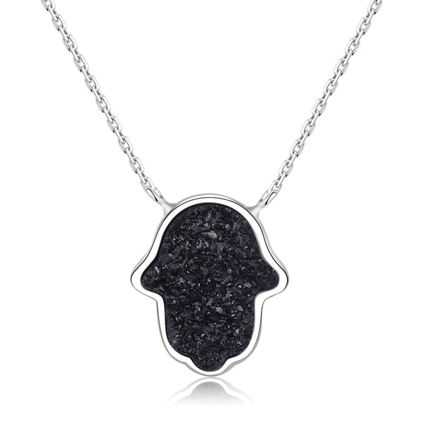 Azure Heaven Druzy Fatima Necklace