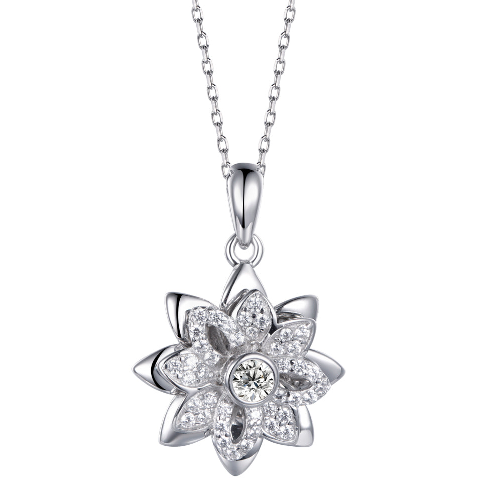Twinkling Joy Double Flower Necklace