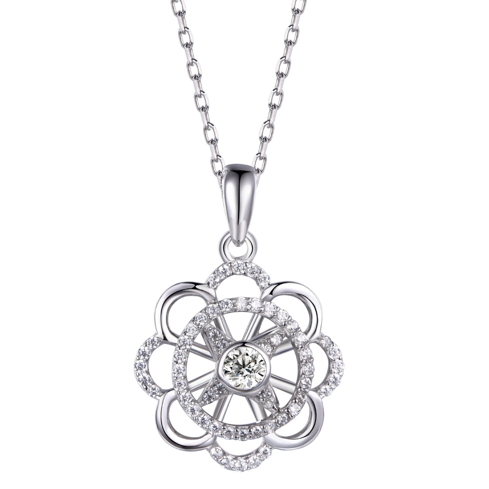 Twinkling Joy Happiness Wheel Necklace
