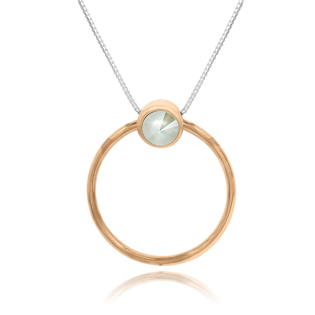 Bella Loop Rose Gold  Necklace - Euro Sparkles