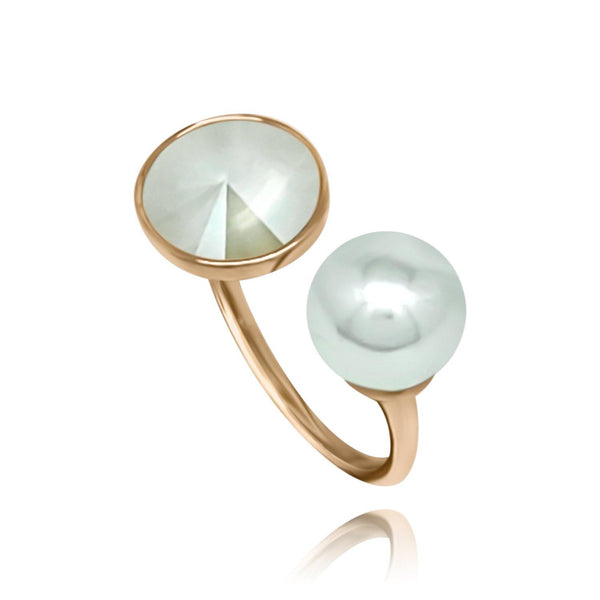 Bella Rose Gold Pearl Ring