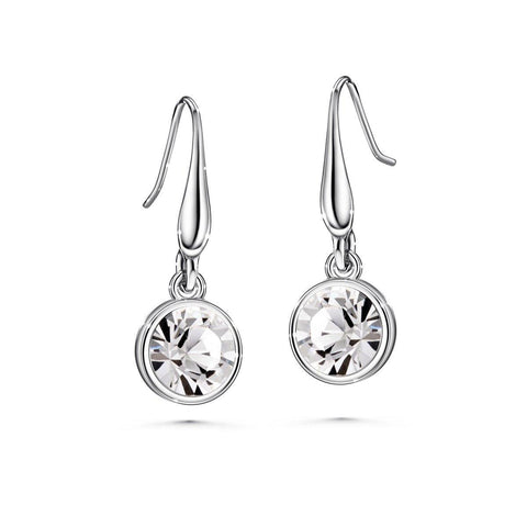 Color of Soul Earrings April (Clear Crystal) - Euro Sparkles