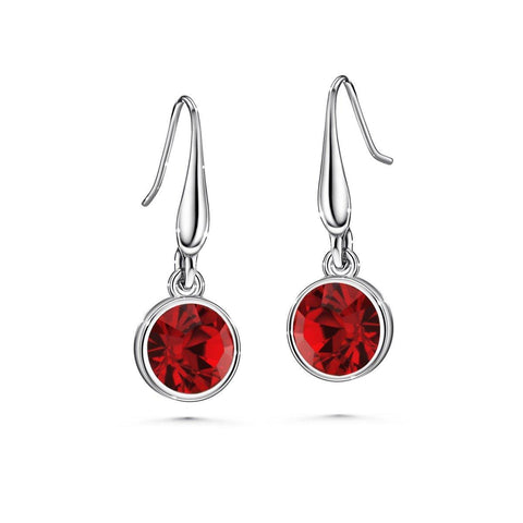 Color of Soul Earrings January (Garnet) - Euro Sparkles