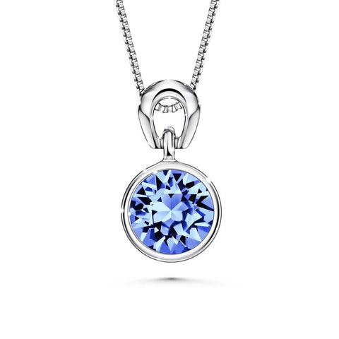 Color Of Soul Necklace December (Light Sapphire) - Euro Sparkles