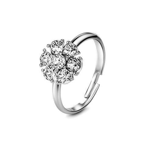 Flower of Soul Ring April (Clear Crystal) - Euro Sparkles