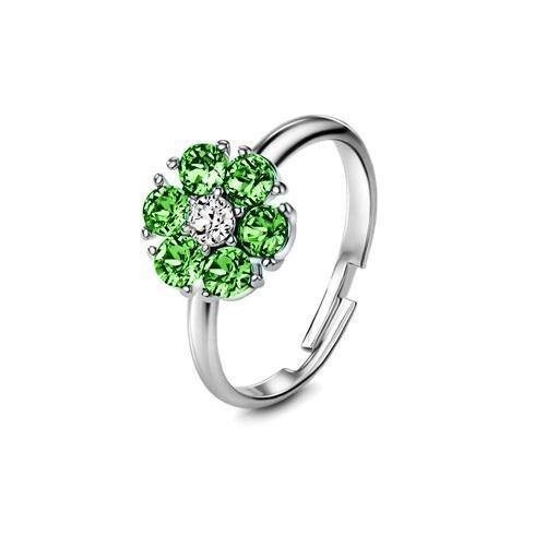 Flower of Soul Ring August (Peridot) - Euro Sparkles