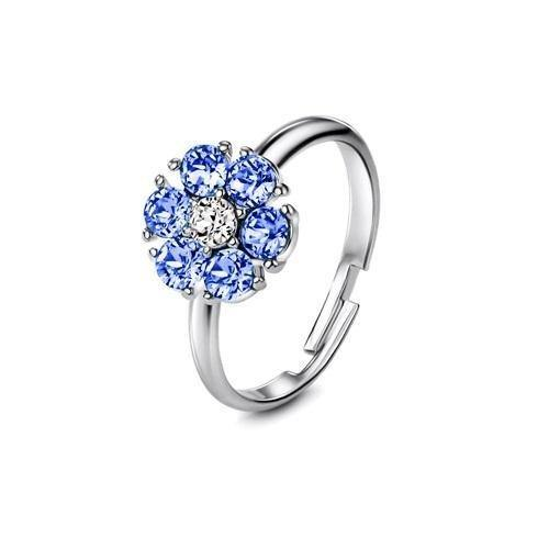 Flower of Soul Ring December (Light Sapphire) - Euro Sparkles