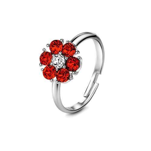 Flower of Soul Ring January (Garnet) - Euro Sparkles