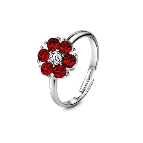 Flower of Soul Ring July (Ruby) - Euro Sparkles