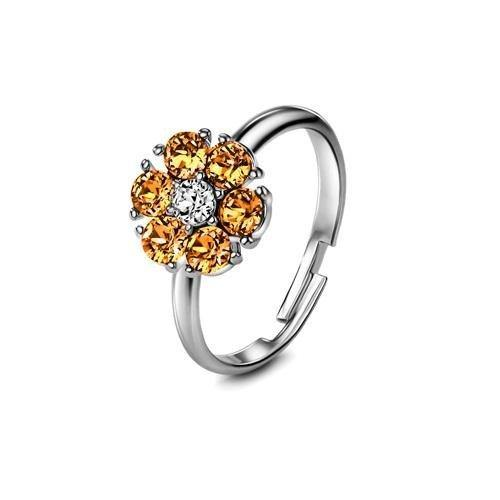 Flower of Soul Ring November (Topaz) - Euro Sparkles