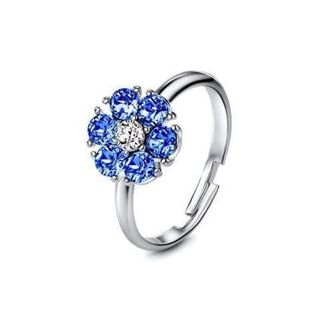 Flower of Soul Ring September (Sapphire) - Euro Sparkles