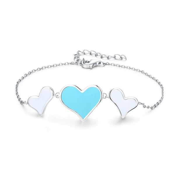 Eternal Love Double Heart Bracelet - Euro Sparkles