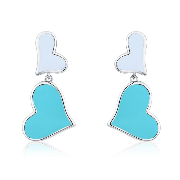 Eternal Love Double Heart Earrings