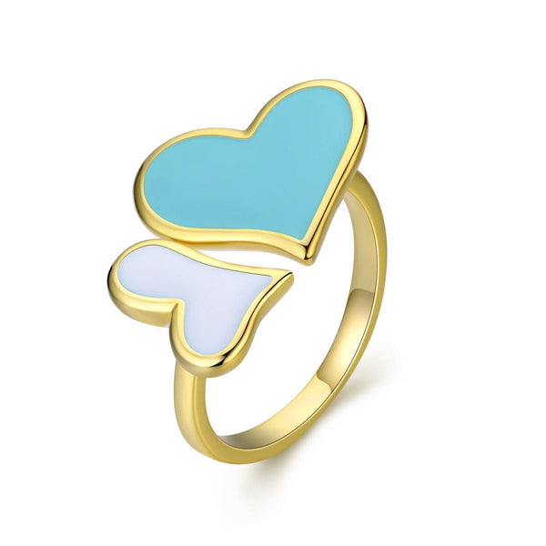 Eternal Love Double Heart Ring - Euro Sparkles