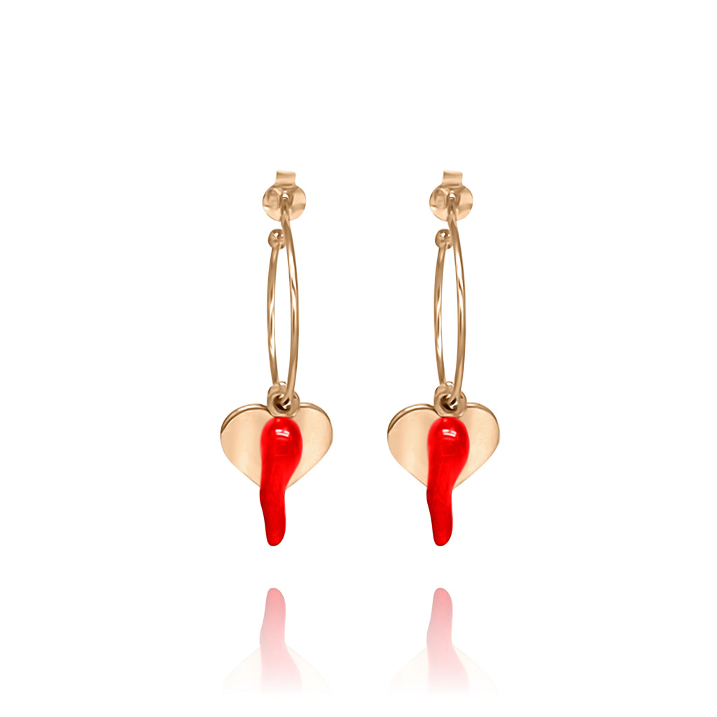Karamella Red Earring