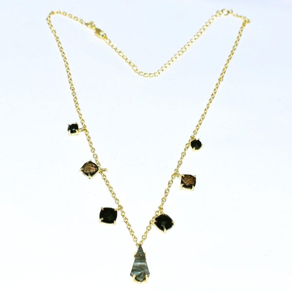 Hidden Treasure Black Onyx Druzy Necklace - Euro Sparkles