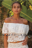 Miss June Top Off Shoulder top Cristal
