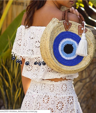 Miss June Blue Eye Round Bag