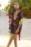 Miss June Kaftan Coconut - Multi