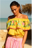 Miss June Short Top Chiquita Yellow