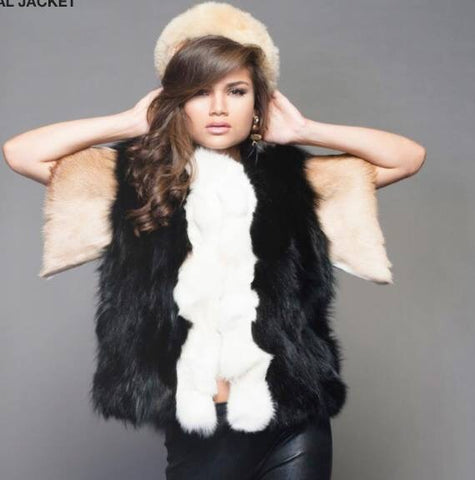 DOSP Collection Fox fur jacket