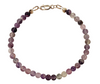 "4mm Assorted Gemstone Round Bead Bracelet 7.5""  with Sterling Silver Clasp"