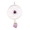 Amethyst Dream Catcher Pendant Silver Plated 2.5""