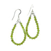 Peridot Long Hoop Handmade Earrings