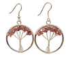 Assorted Stone Tree of Life Earrings