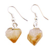Citrine Raw Point Earrings