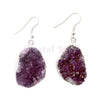 Amethyst Cluster Earrings - Gold or Silver Plated