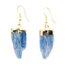 Gold Plated Kyanite Earrings