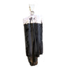 Tourmaline Black Pendant Plated 1.5""