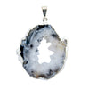 Oco Geode Slice Plated Pendant Silver and Gold