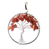 Assorted Stone Tree of Life Pendant 1.5""