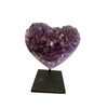 Amethyst Heart on Metal Base Small