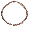 Rose Gold 3mm Hematite Heart Bracelet with Rose Gold Magnetic Clasp and findings