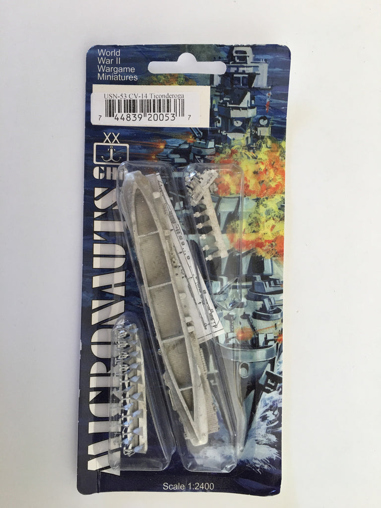 USN 53 Ticonderoga CV-14 1/2400 kit (used)