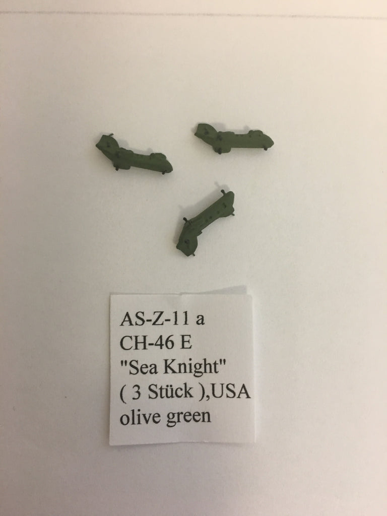 ASZ 11A CH-46 Sea Knight olive green x3