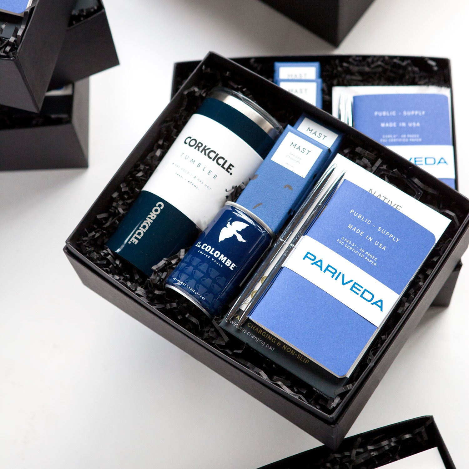 Sleek, Modern Welcome Gift Boxes for a Technology Consulting Firm