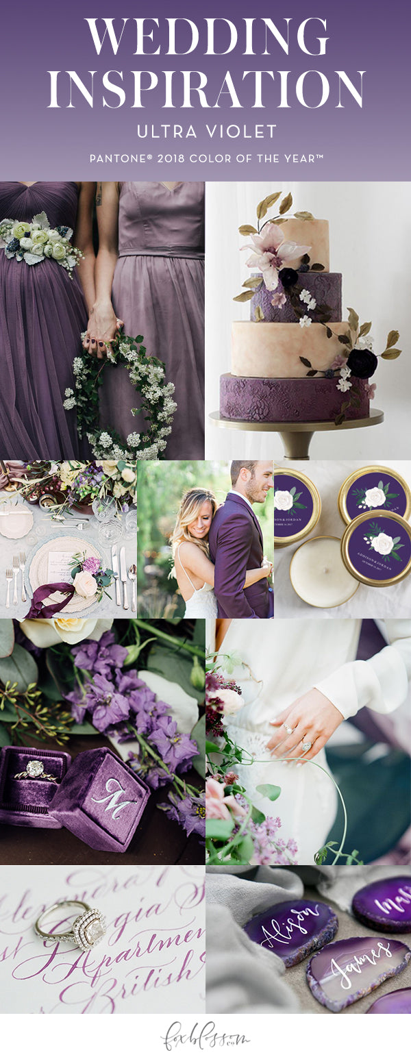 Pantone 2018 Color of the Year Ultra Violet Wedding Inspiration from Foxblossom Co.