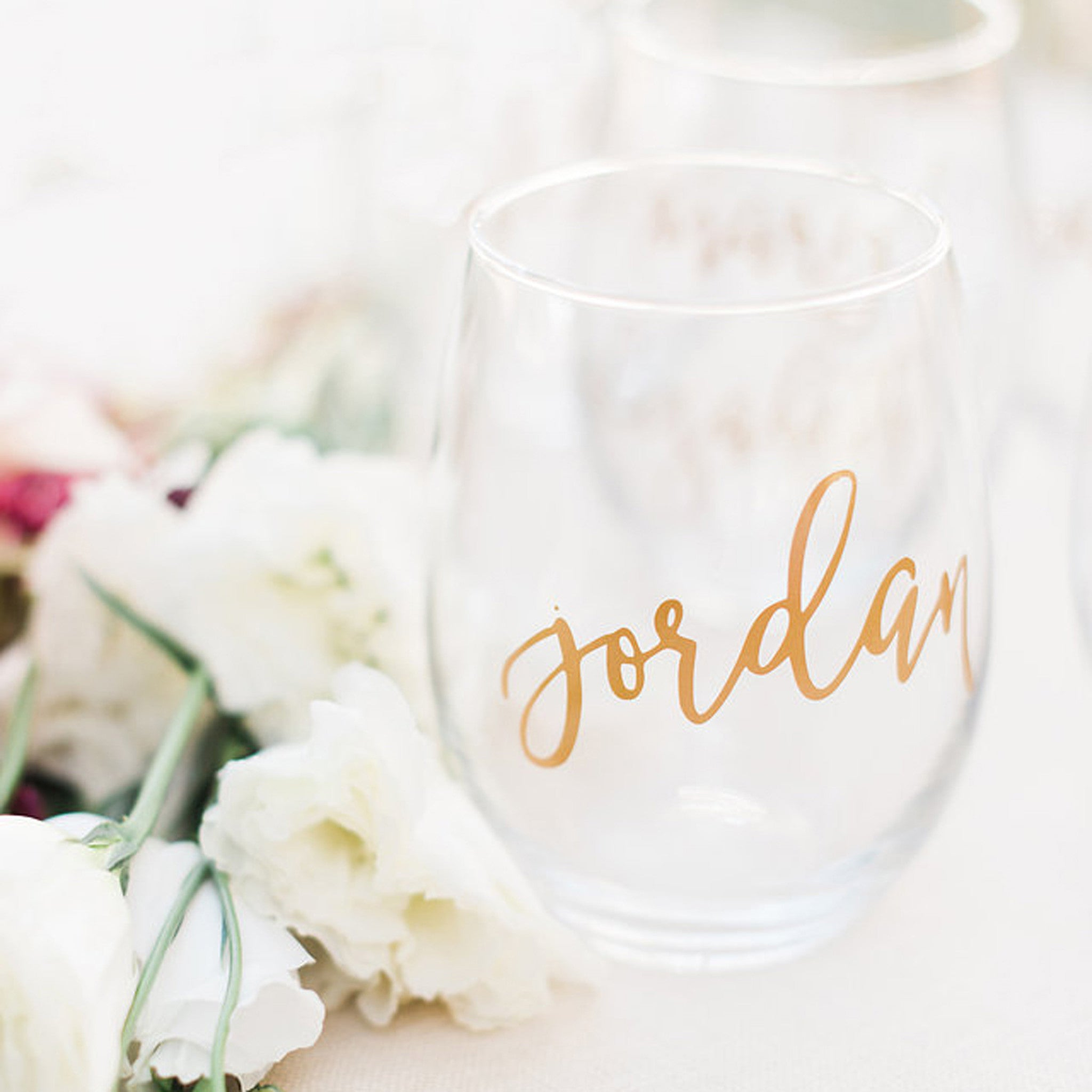 Foxblossom Co. Personalized Wine Glass